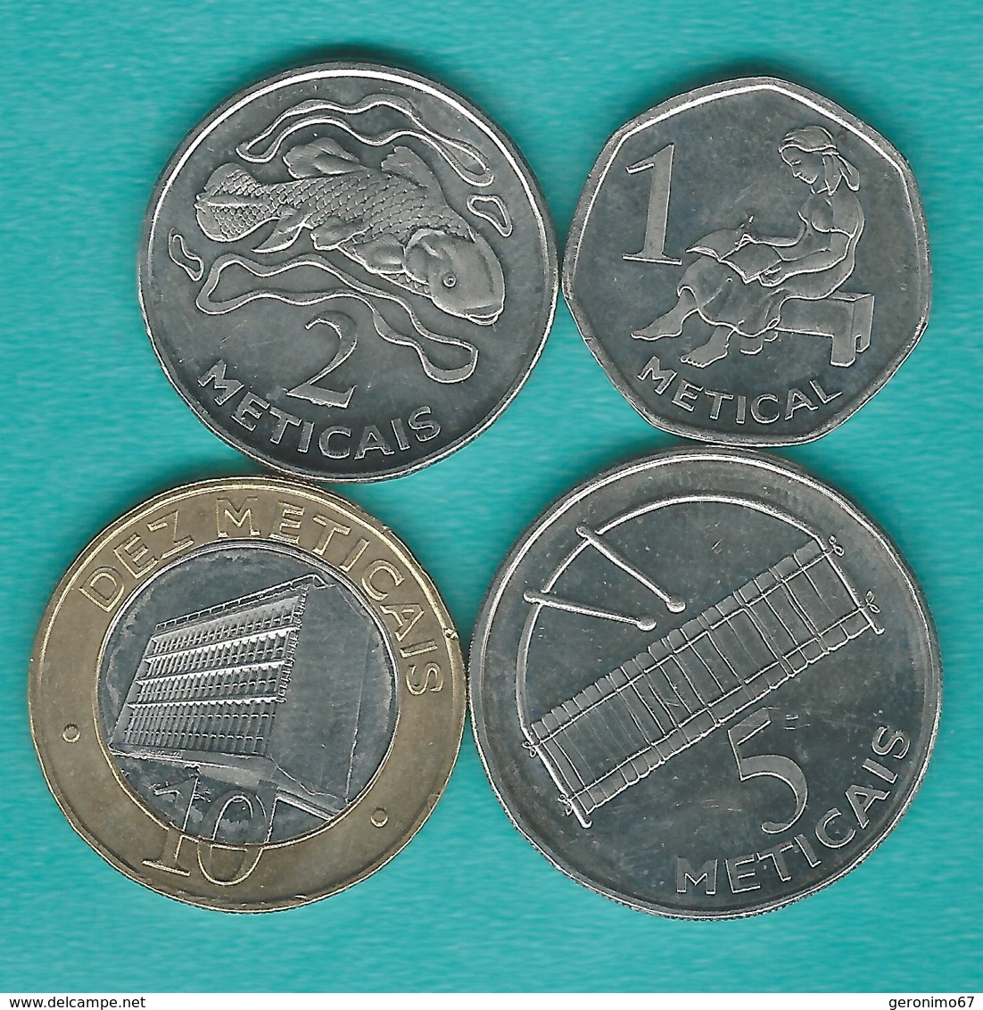 Mozambique - 2006 - 1, 5, 10, 20 & 50 Centavos; 1, 2, 5 & 10 Meticais (KMs 132-140) - Mozambique