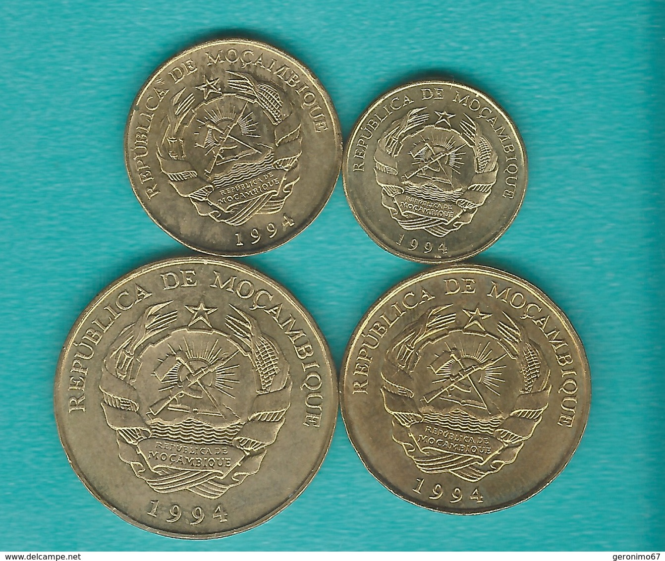 Mozambique - 1994 - 1, 5, 10, 20, 50, 100, 500 & 1000 Meticais (KMs 115-122) - Mozambique