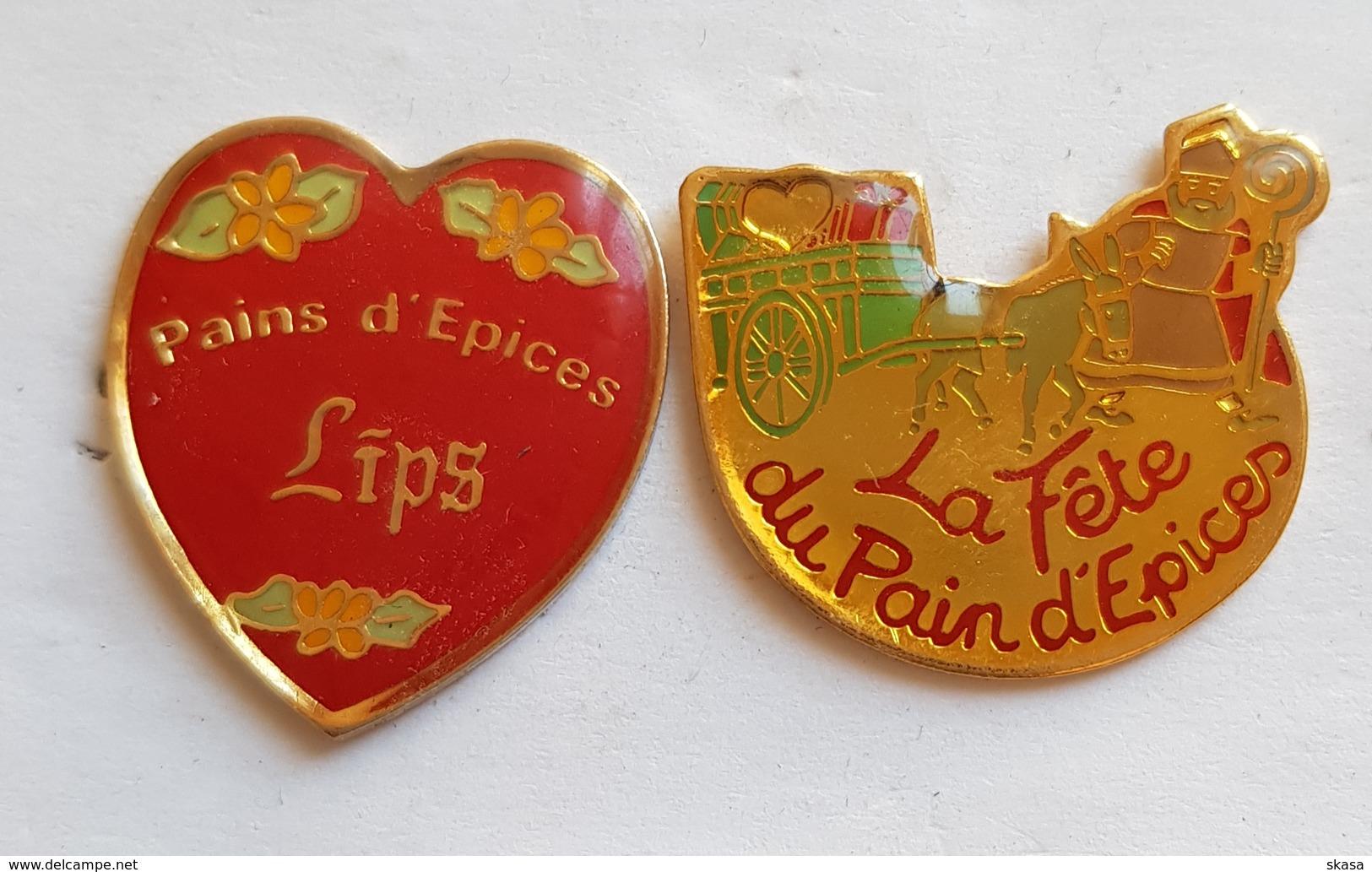 2 Pin's Pains D'épices Lips + La Fête Du Pain D'épices - Food