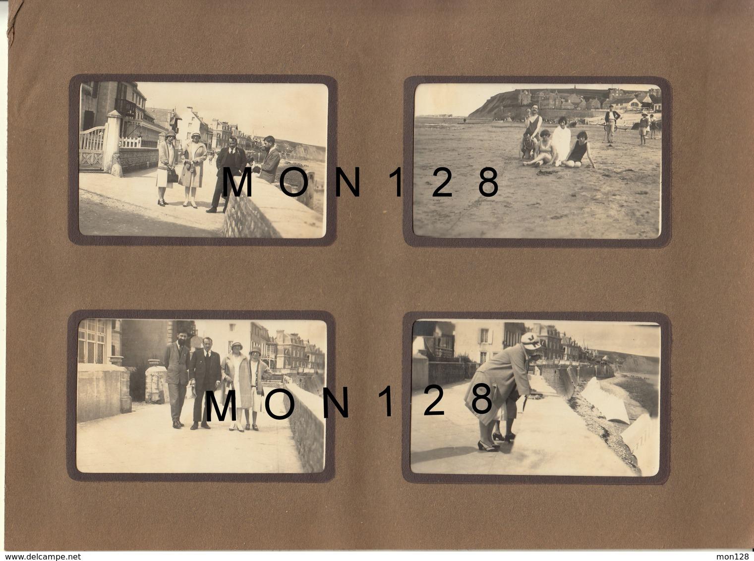 NORMANDIE ARROMANCHES 1930 - 8 PHOTOS DE FAMILLE NON COLLEES - Dim 8,5x5,5 Cms - BON ETAT - Lieux