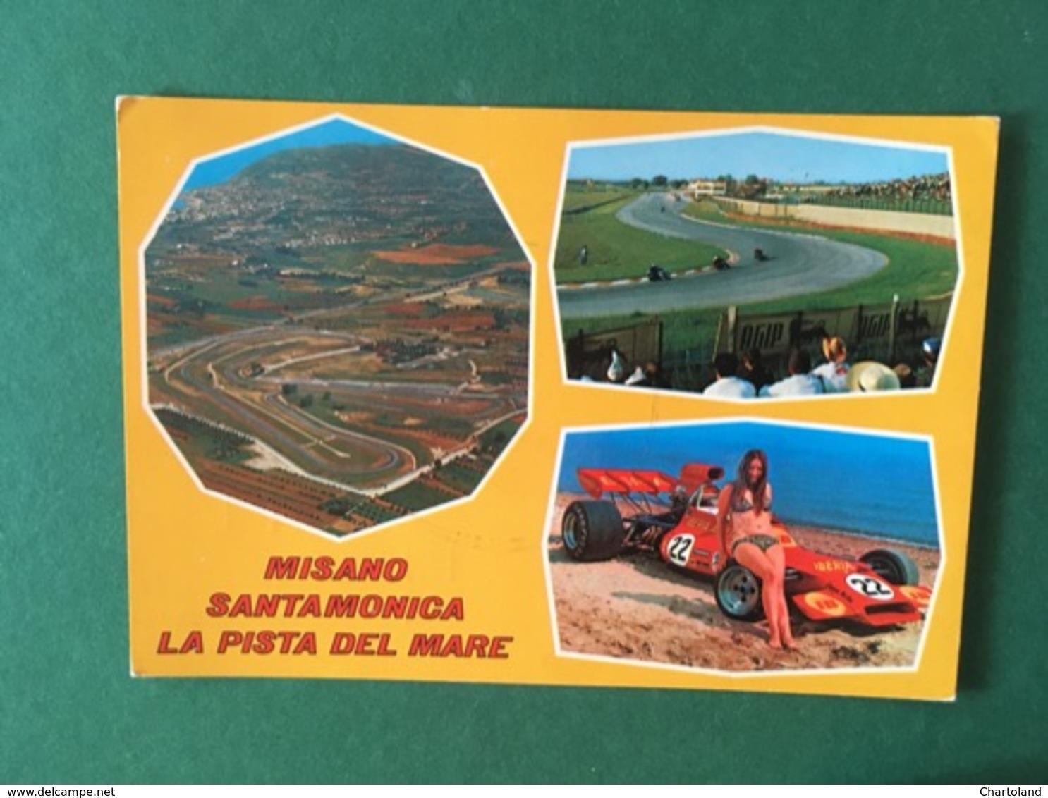 Cartolina Misano - Santamonica - LA Pista Del Mare - 1976 - Rimini