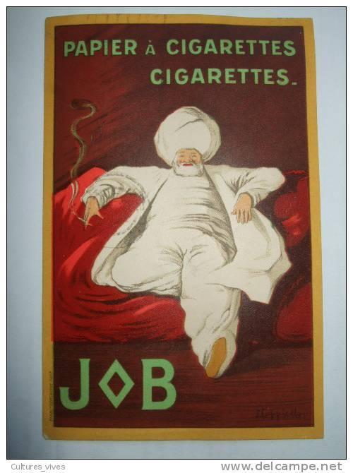 Carte Postale Publicitaire Pour Le Papier à Cigarette  Et Les Cigarettes Job - Cappiello