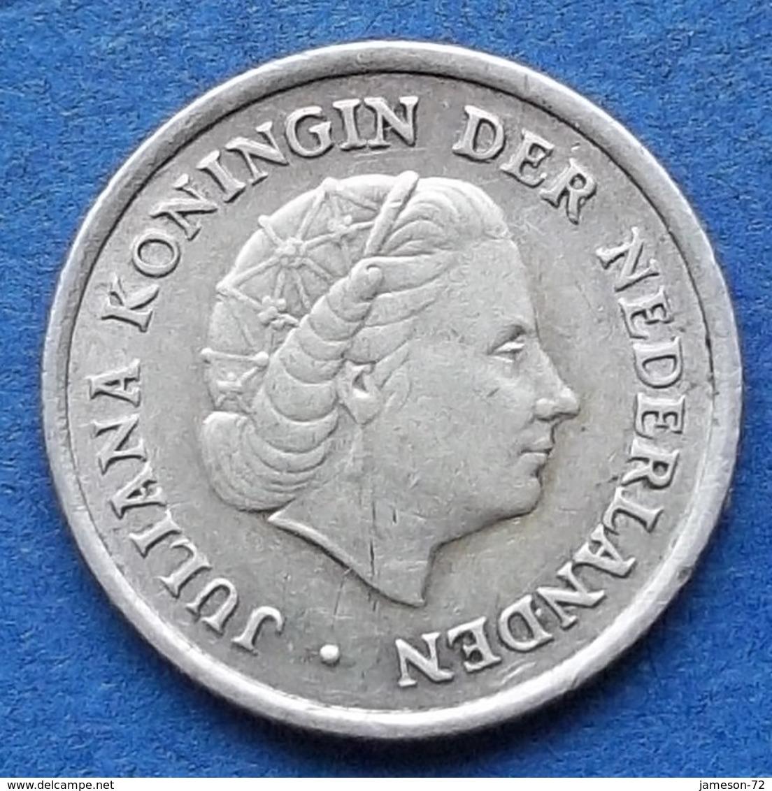 NETHERLANDS ANTILLES - Silver 1/10 Gulden 1966 Fish & Star KM#3  Edelweiss Coins - Netherland Antilles