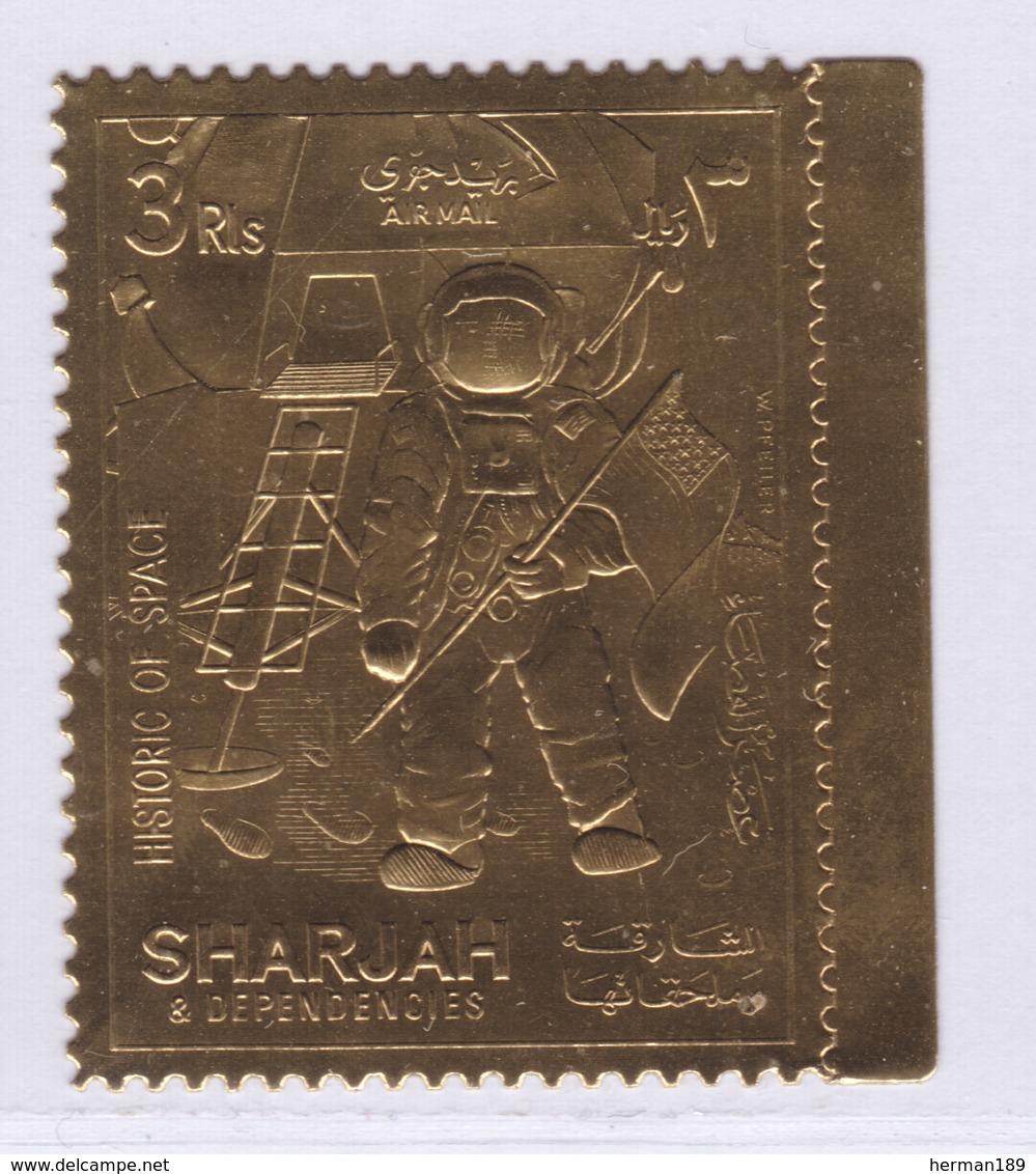 SHARJAH AERIENS ** MNH Neuf Sans Charnière, 1 Valeur, TB (D8262) Timbre OR, Cosmos, Histoire De L'espace - 1970 - Fujeira