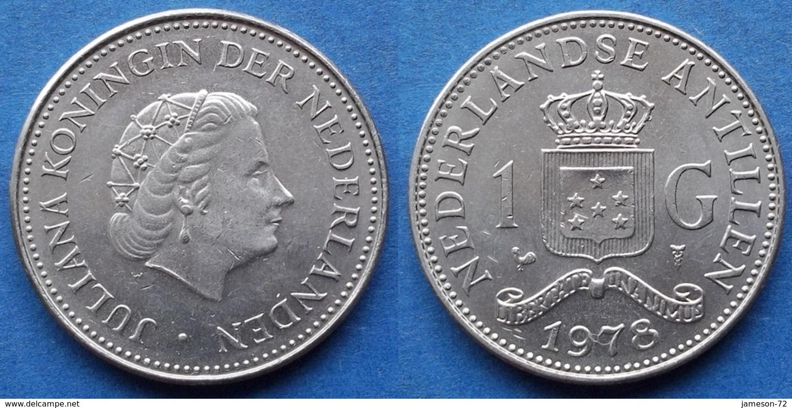NETHERLANDS ANTILLES - 1 Gulden 1978 KM# 12 Juliana (1948-80) - Edelweiss Coins - Netherland Antilles