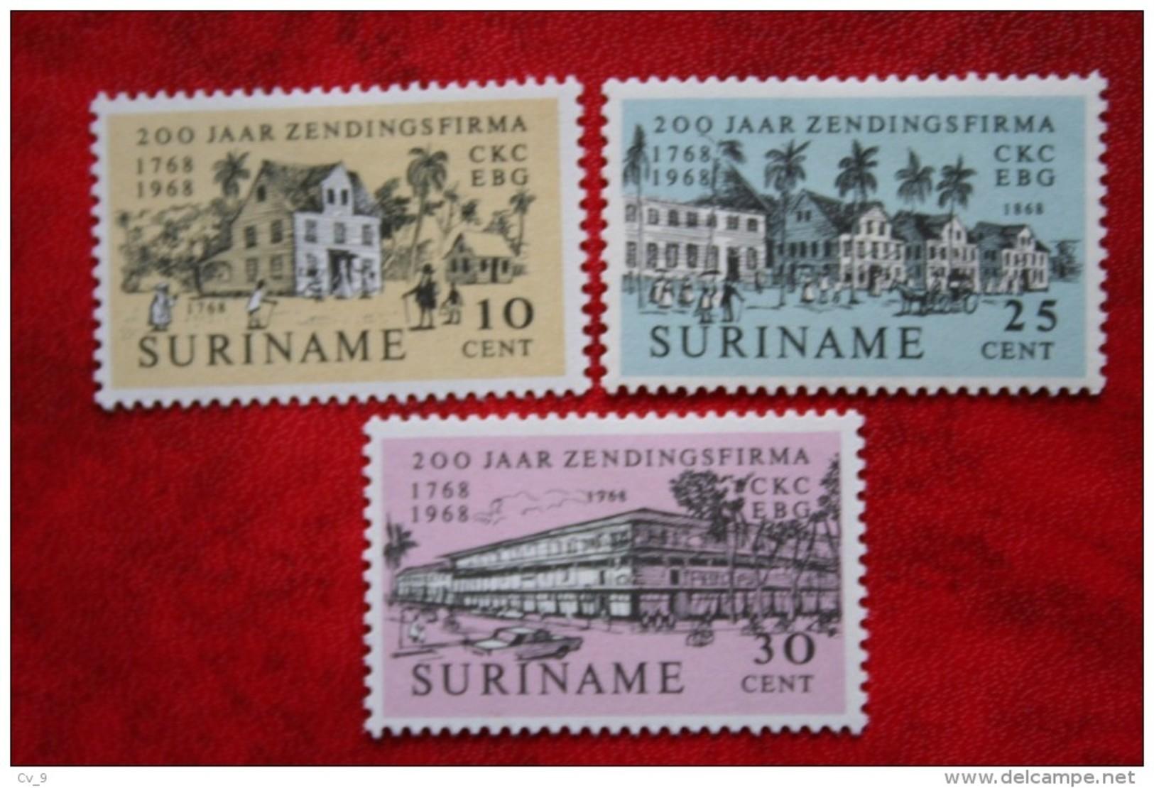 Zendingsfirma CKC ; NVPH Nr: 499-501 Mi 542-544 ; 1968 POSTFRIS MNH ** SURINAME / SURINAM - Surinam ... - 1975