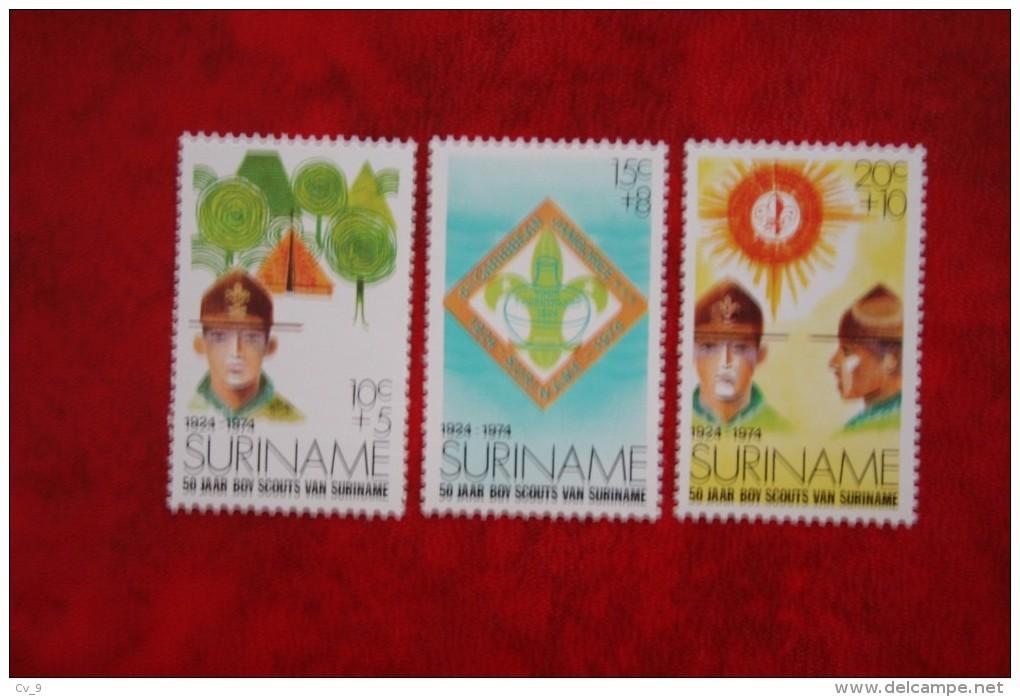 50 Jaar Padvinderij Scouting ; NVPH Nr: 627-629 Mi 677-679 ; 1974 MNH / Postfris SURINAME / SURINAM - Surinam ... - 1975