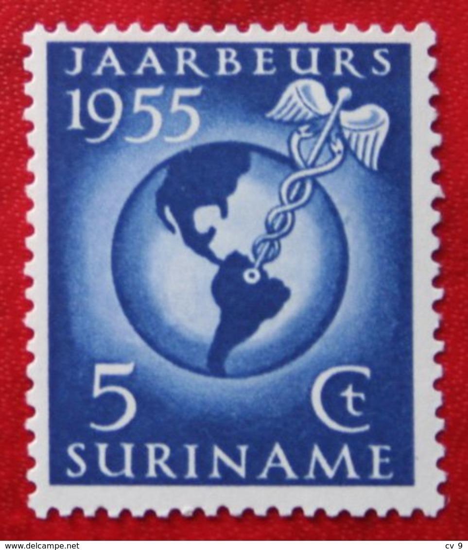 Jaarbeurs Te Paramaribo NVPH 323 Mi 358 1955 MH / Ongebruikt SURINAME / SURINAM - Surinam ... - 1975