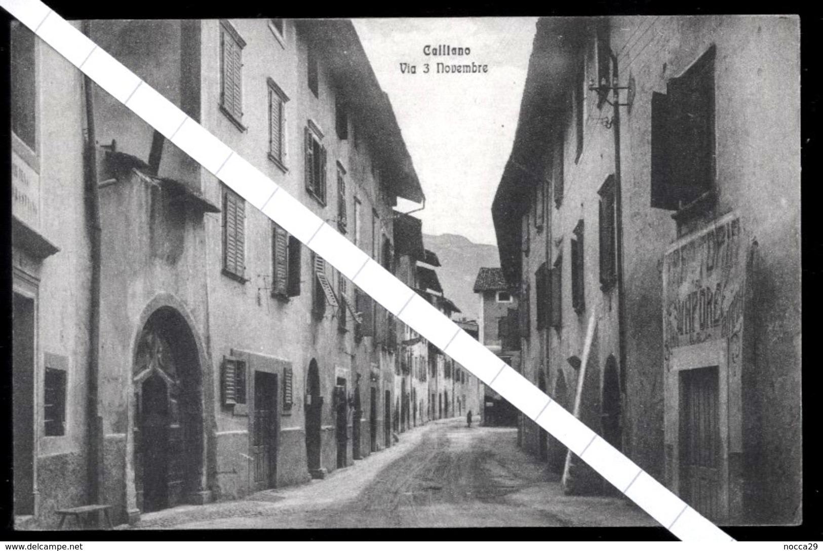 CALLIANO - TRENTO - 1920 - VIA  3 NOVEMBRE - Trento