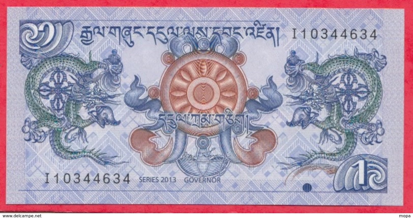 Bhoutan ---1 Ngultrum 1981---UNC--(12) - Bhoutan