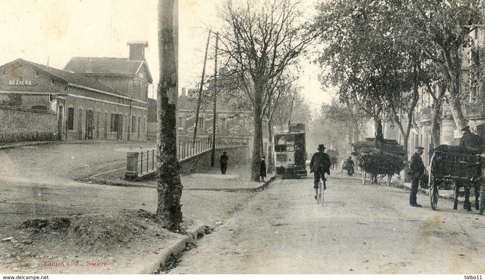 34 - Beziers - Gare Du Nord Et Avenue De Pezenas - Charrettes - Tram - Beziers