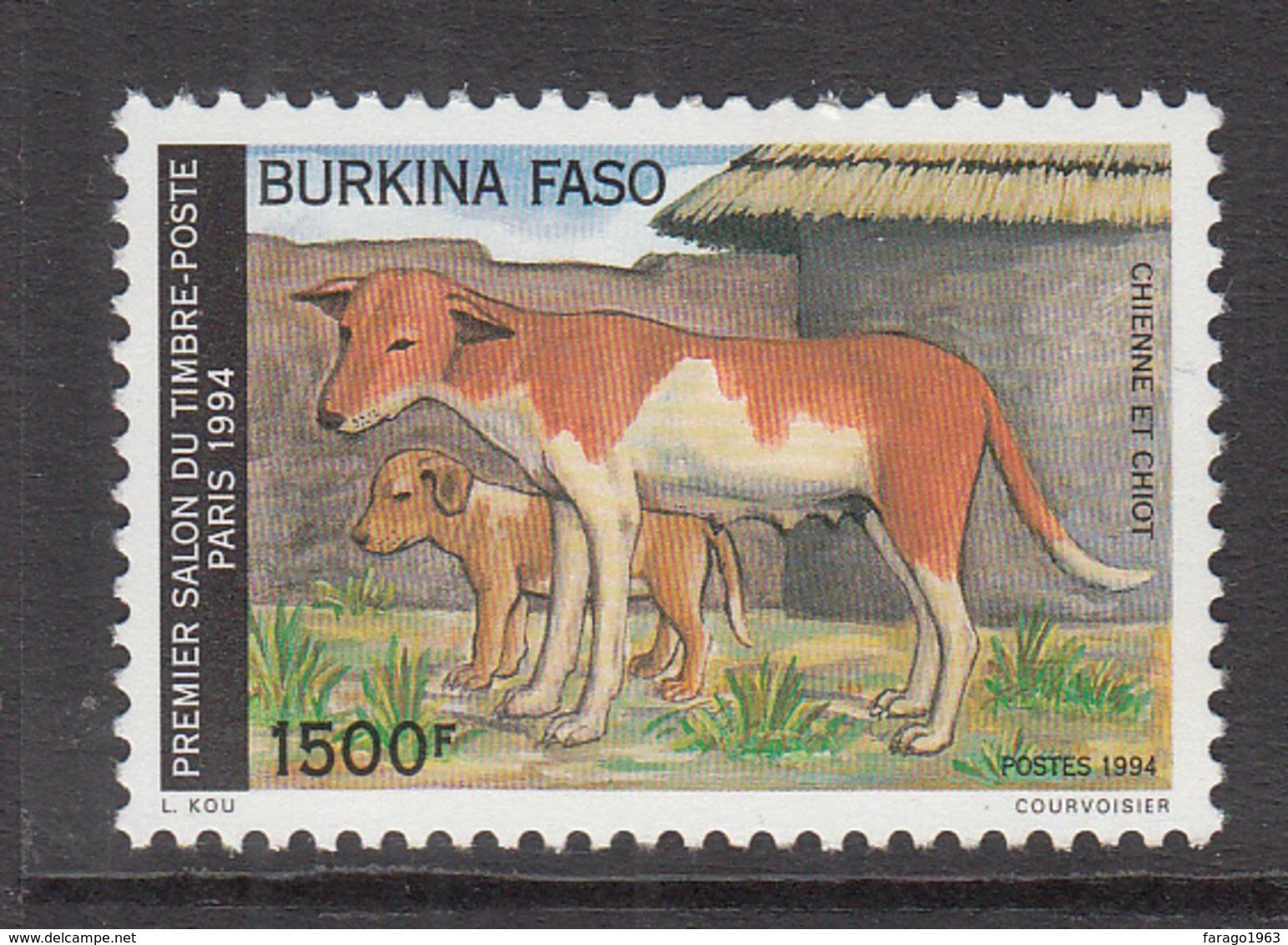 1994 Burkina Faso Dog Chien Paris Philately Complete Set Of 1  MNH - Burkina Faso (1984-...)