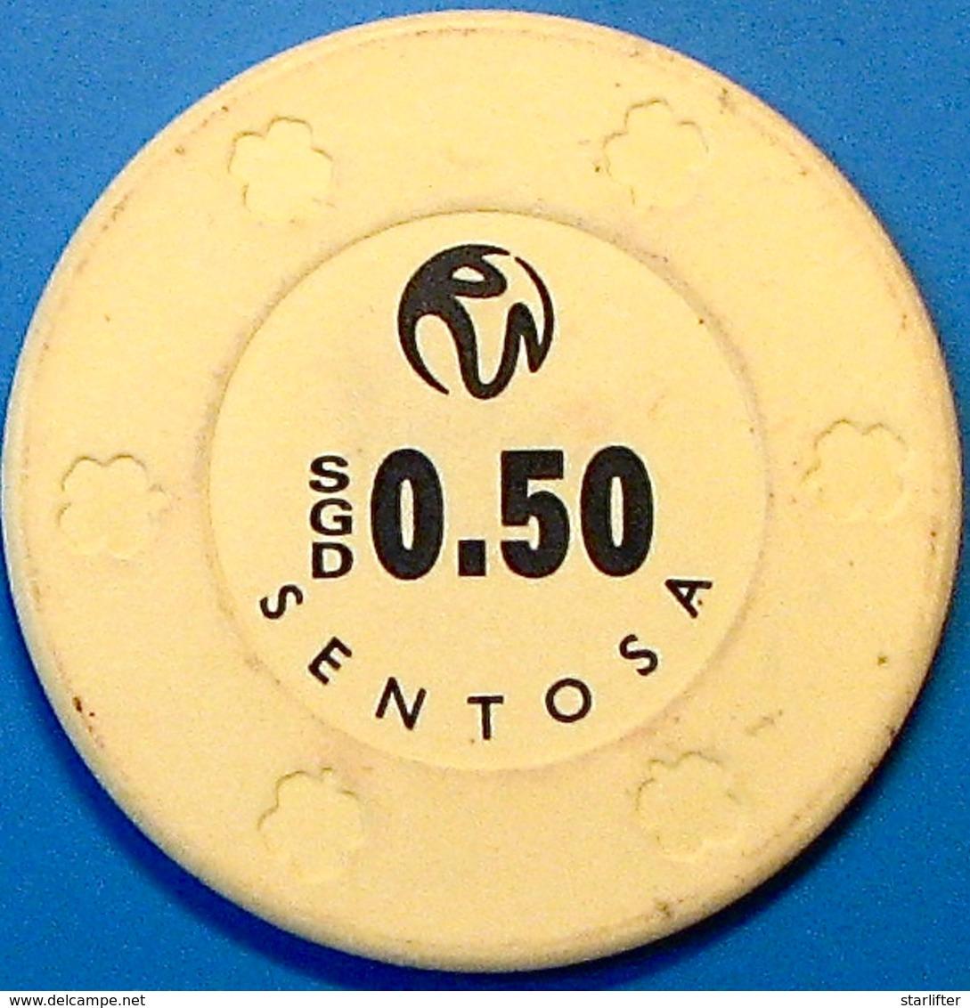 0.50 Casino Chip. Resort World, Sentosa Island, Singapore. N39. - Casino