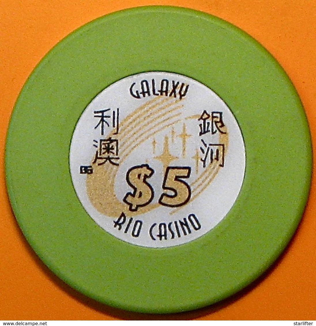 HK$5 Casino Chip. Galaxy Rio, Macau. N40. - Casino