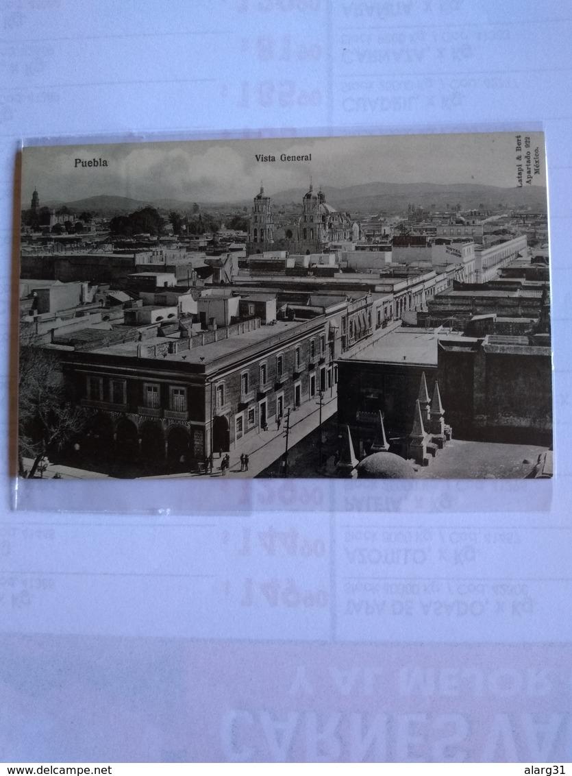 México Puebla Early Postcard General View Vista General - Mexique