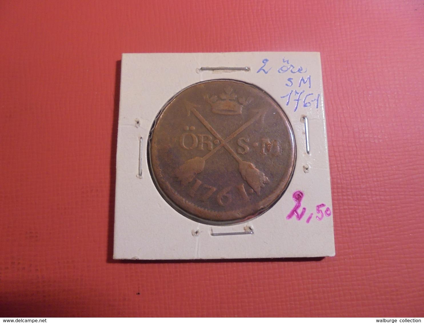 SUEDE 2 ÖRE 1761 (A.3) - Suède