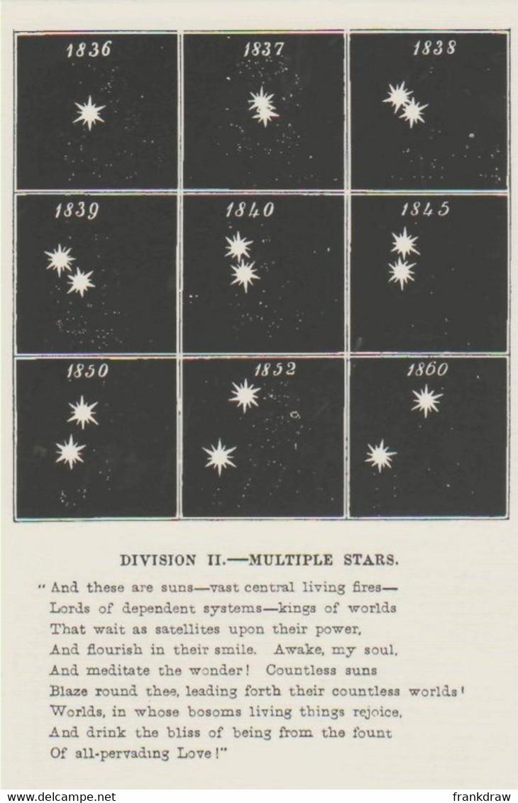 Postcard - The Night Sky - Multiple Stars 1858 - Unused New - Postcards
