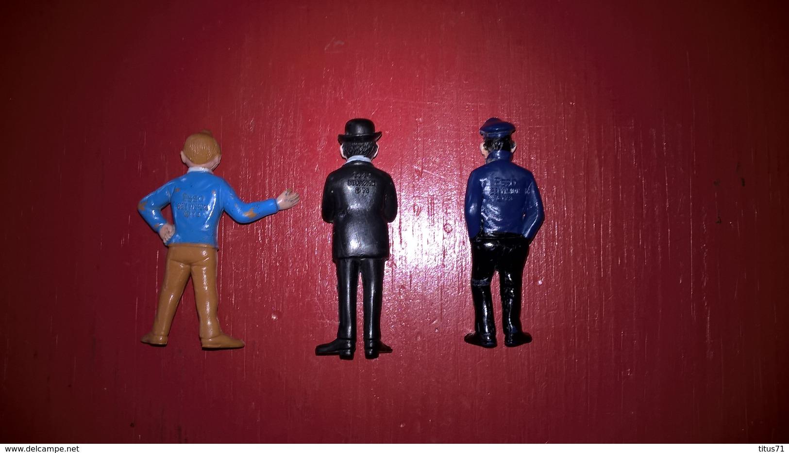 Lot De 3 Figurines  Tintin - Esso Belvision 1973 - Tintin , Haddock  , Dupont - Tintin