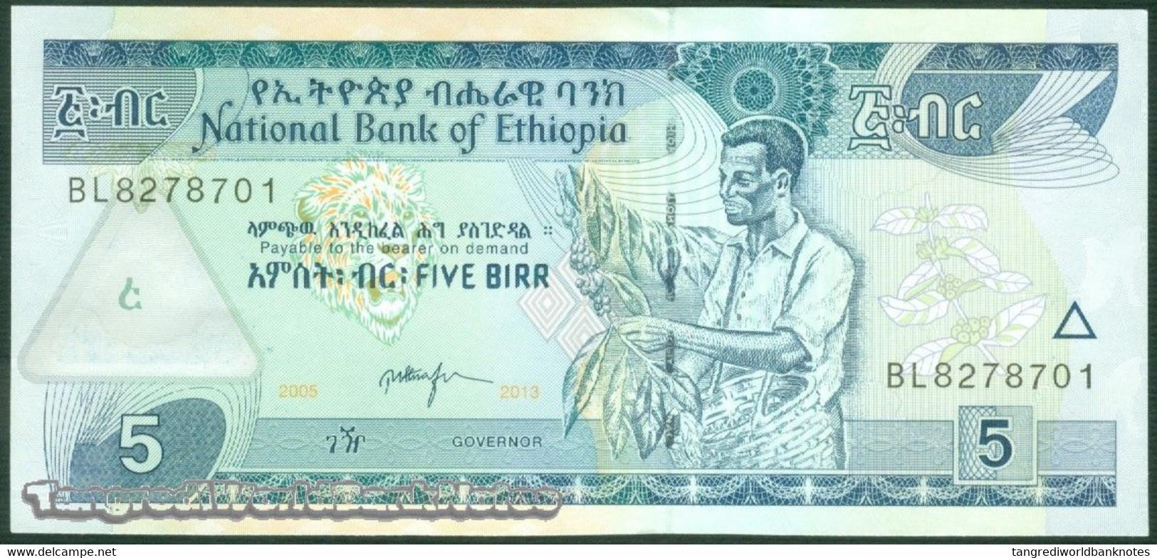 TWN - ETHIOPIA 47f - 5 Birr 2013 Prefix BL UNC - Ethiopie