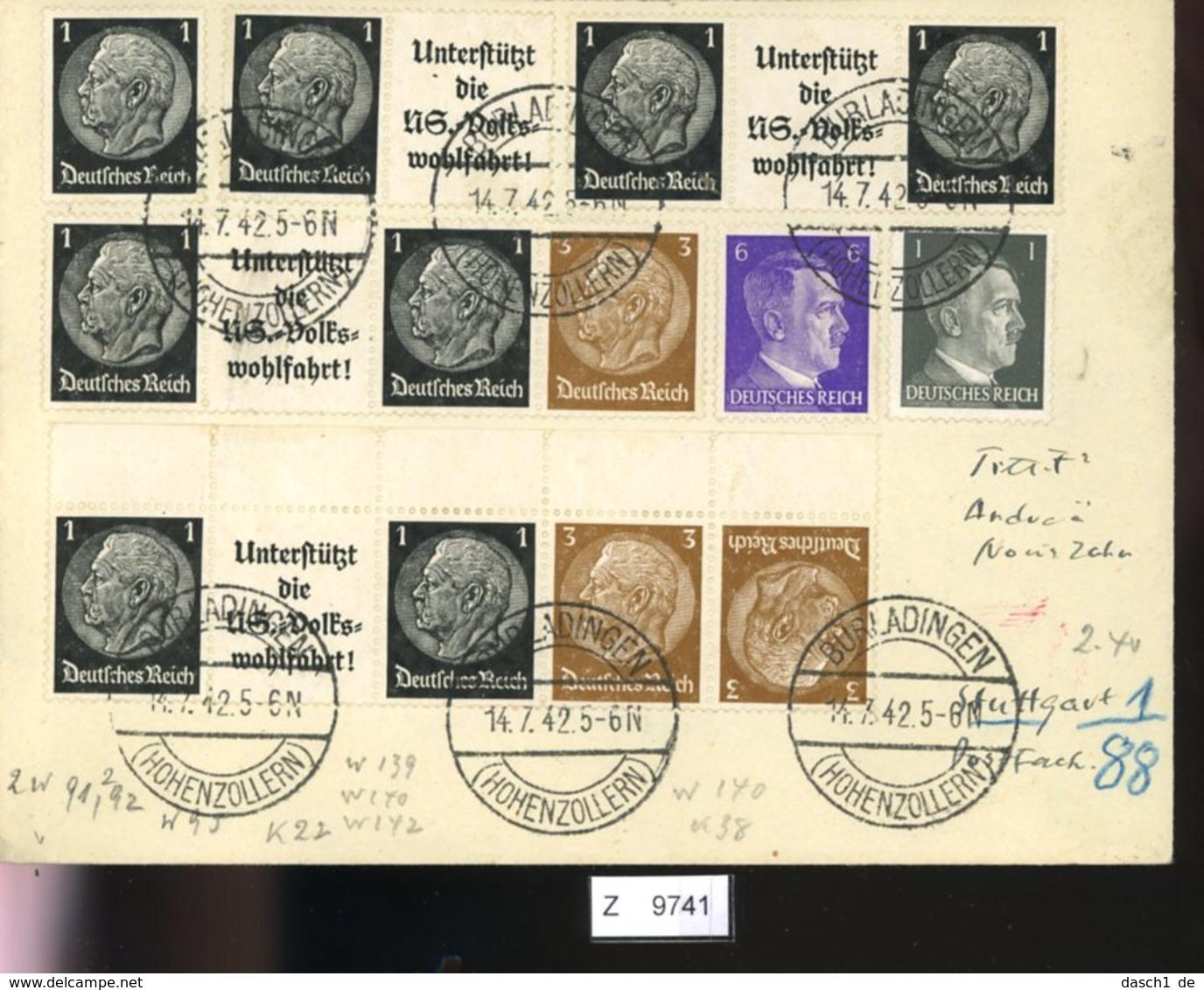 Deutsches Reich, Brief Aus Gebrauchspost Mit Zusammendruck: W 91, W 92, K 22 - Zusammendrucke