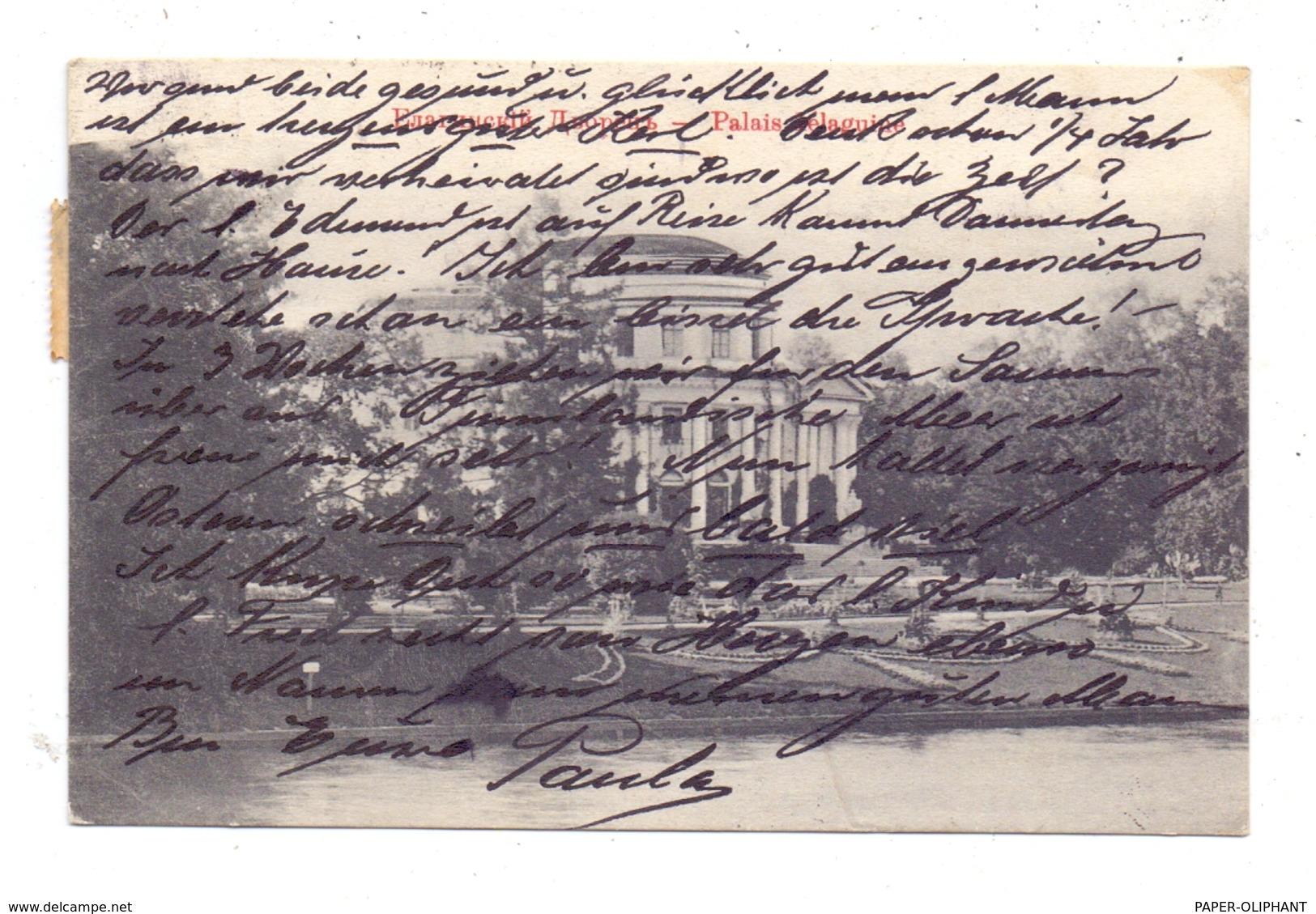 RU 190000 SANKT PETERSBURG, Jelagin-Palais, 1908 - Russland