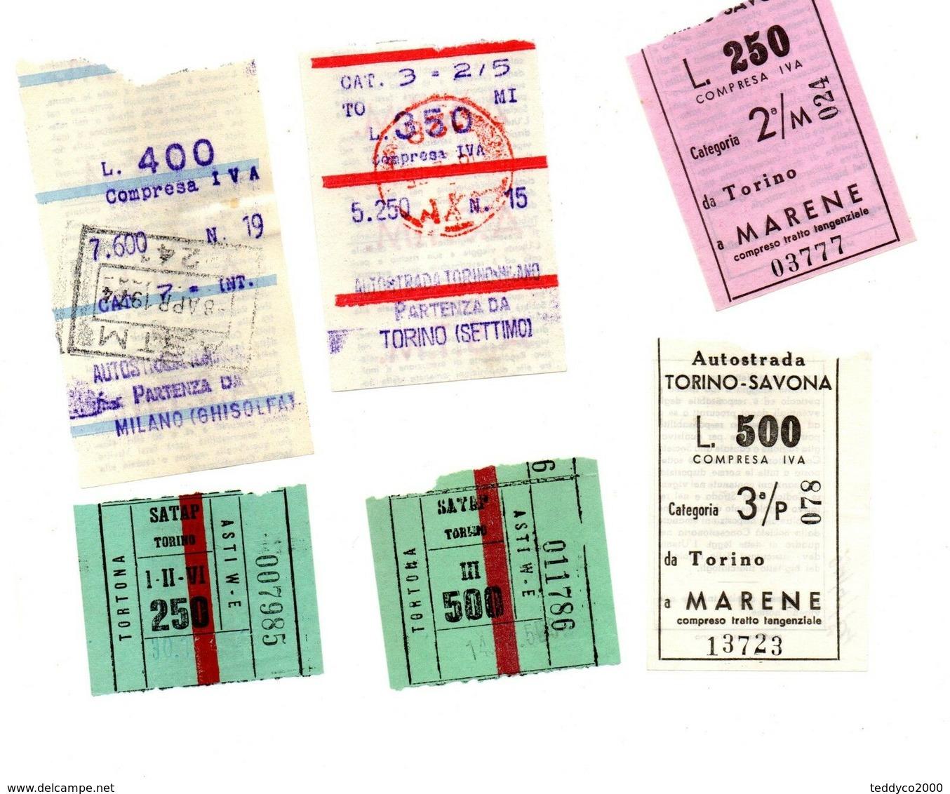 Autostrade Biglietti 1975 - Titres De Transport