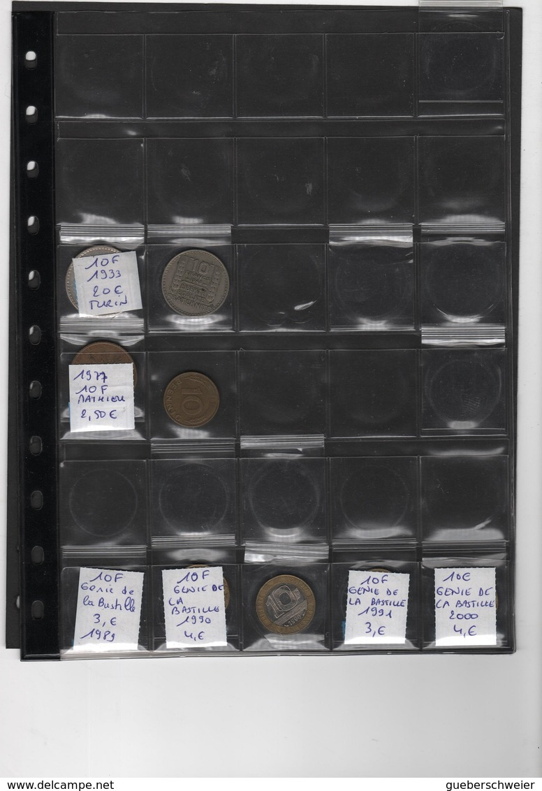Collection De 135 Pièces Françaises + 23 Allemandes Dans Classeur Avec Boitier Coins - France