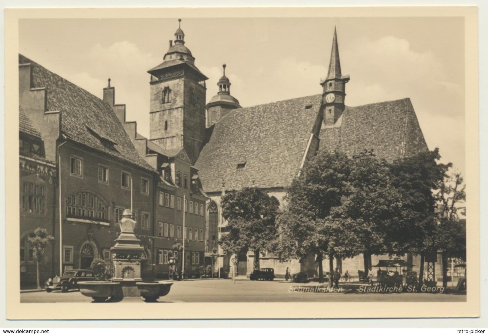AK  Schmalkalden Partie Stadtkirche - Schmalkalden