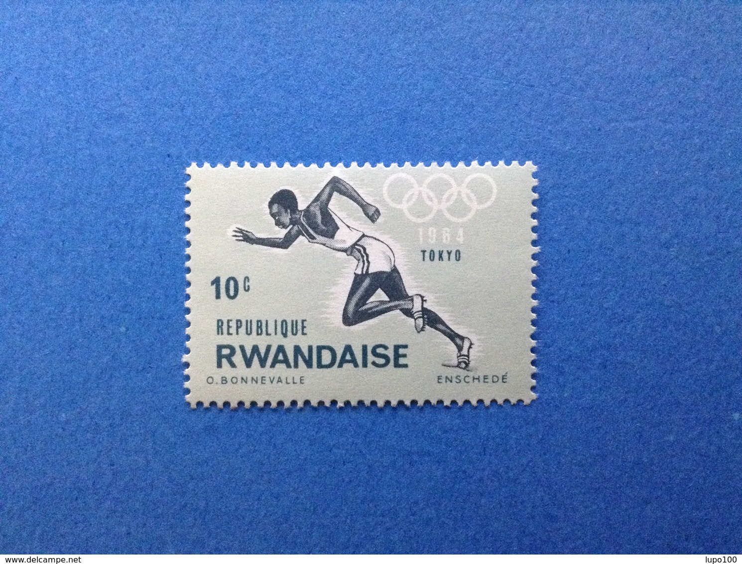 RWANDA REPUBLIQUE RWANDAISE 1964 OLIMPIADE TOKYO 10 C FRANCOBOLLO NUOVO STAMP NEW MNH** - Rwanda