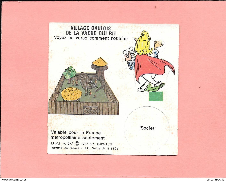 Figurine à Découper Du Village Gaulois D'Astérix - Assurancetourix   - Vache Qui Rit - 1967 - Publicité Fromagerie BEL - Objets Publicitaires