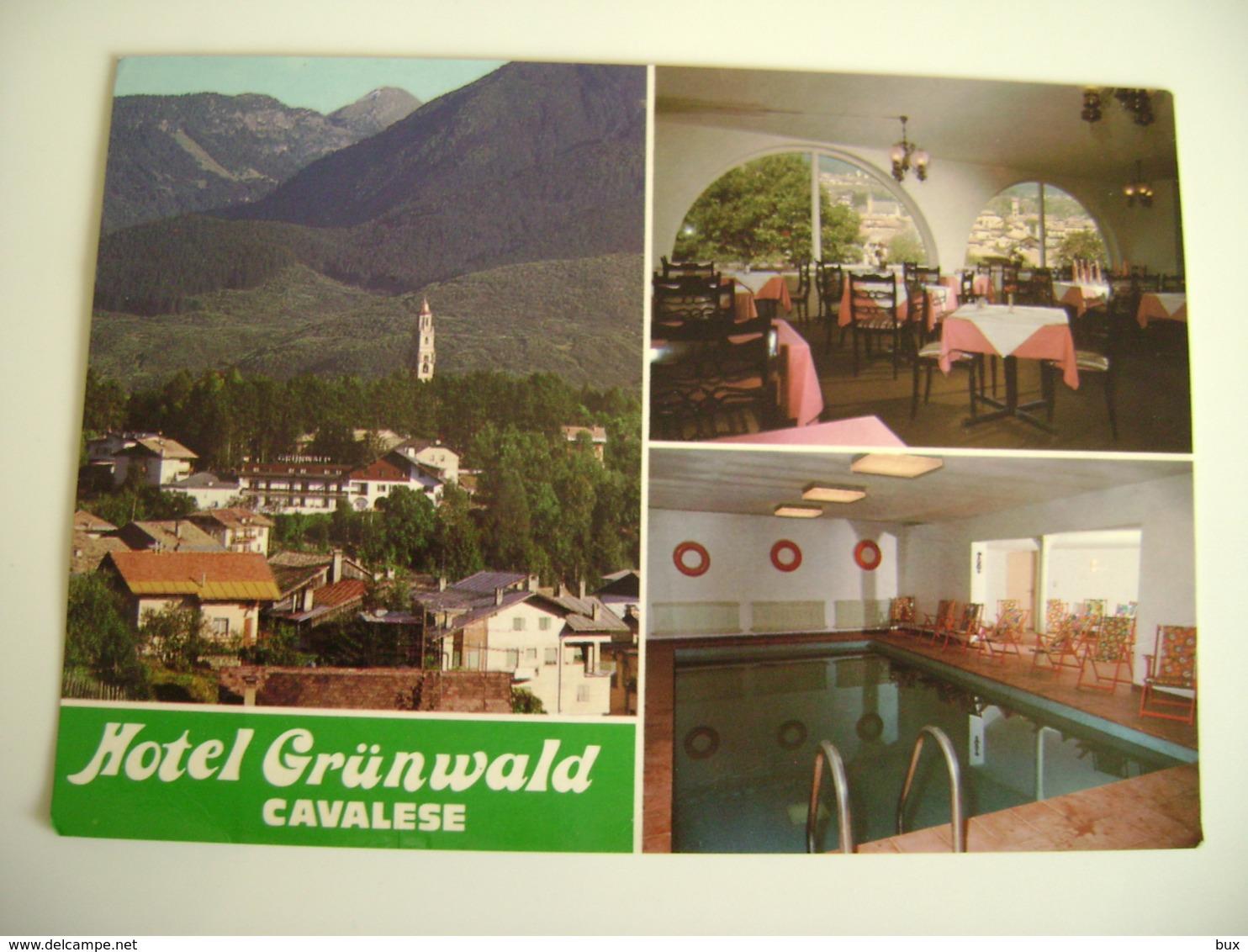 HOTEL  Grünwald   CAVALESE       - TRENTO -     NON VIAGGIATA   COME DA FOTO   LEGGERA PIEGA ANGOLO **** - Trento