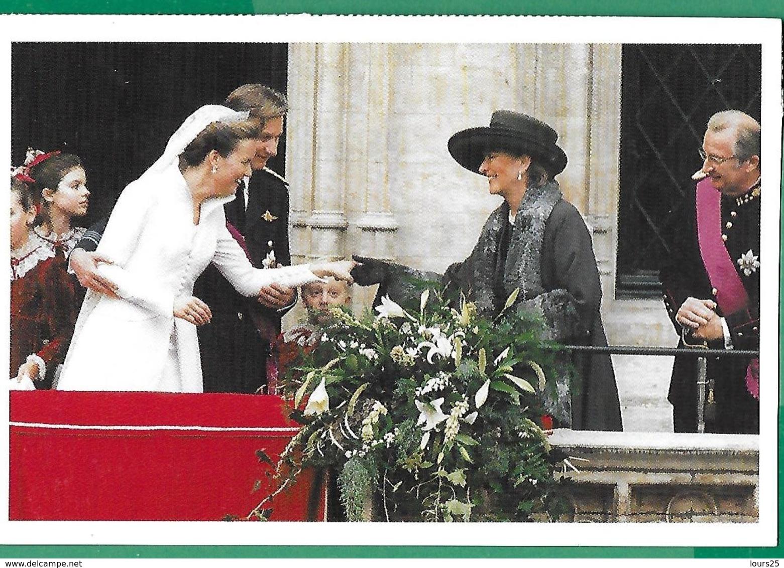 ! - Belgique - CP - Mariage De Philippe Et Mathilde, Roi Et Reine De Belgique - Königshäuser