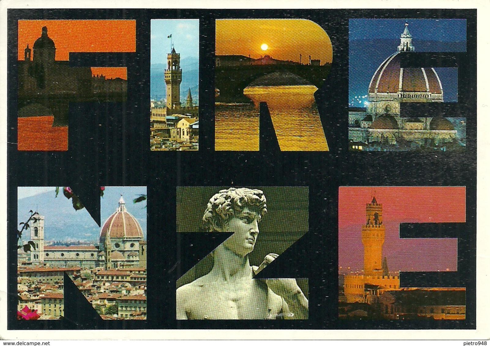 Firenze (Toscana) Vedute E Scorci Panoramici E Scritta Firenze - Firenze