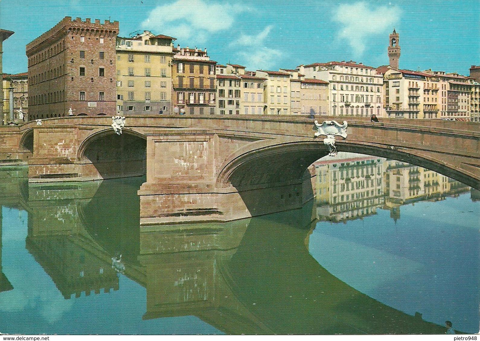 Firenze (Toscana) Ponte Santa Trinità, Santa Trinità Bridge, Le Pont Santa Trinità - Firenze