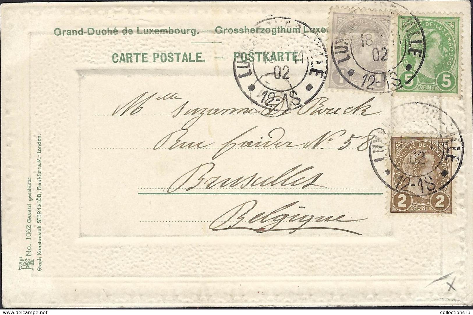 Litho Carte  Luxemburg   Grossherzogl. Palais  2 Scans - Autres