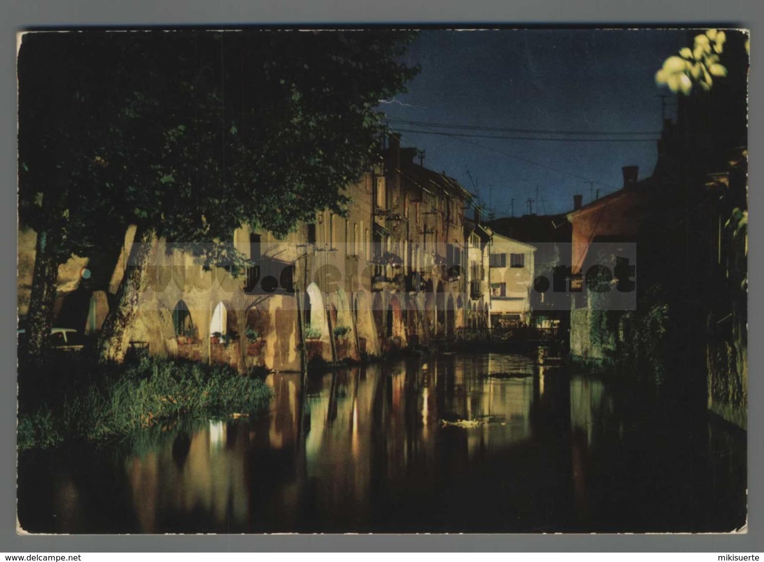 V7694 TREVISO SOTTOPORTICO BURANELLI NOTTURNO VG SB (m) - Treviso