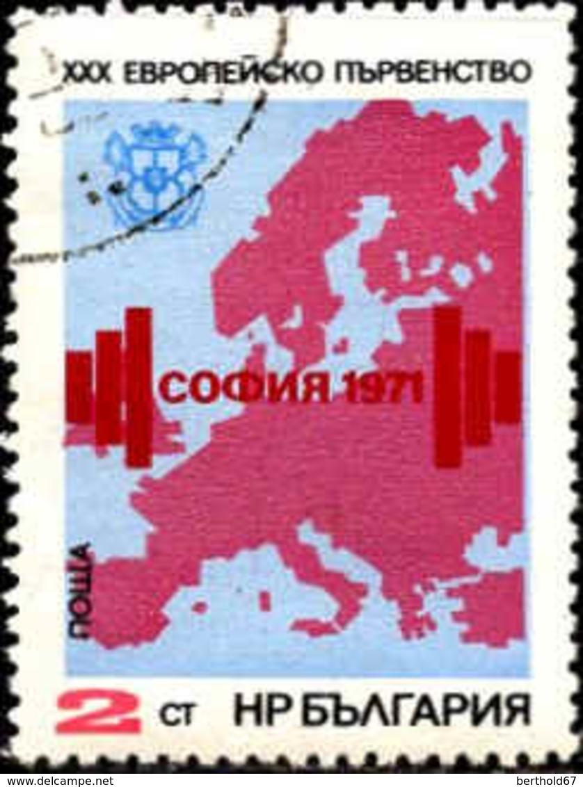 Bulgarie Poste Obl Yv:1870 Mi:2094 Championnats D'Europe D'Haltérophilie (cachet Rond) - Gebraucht