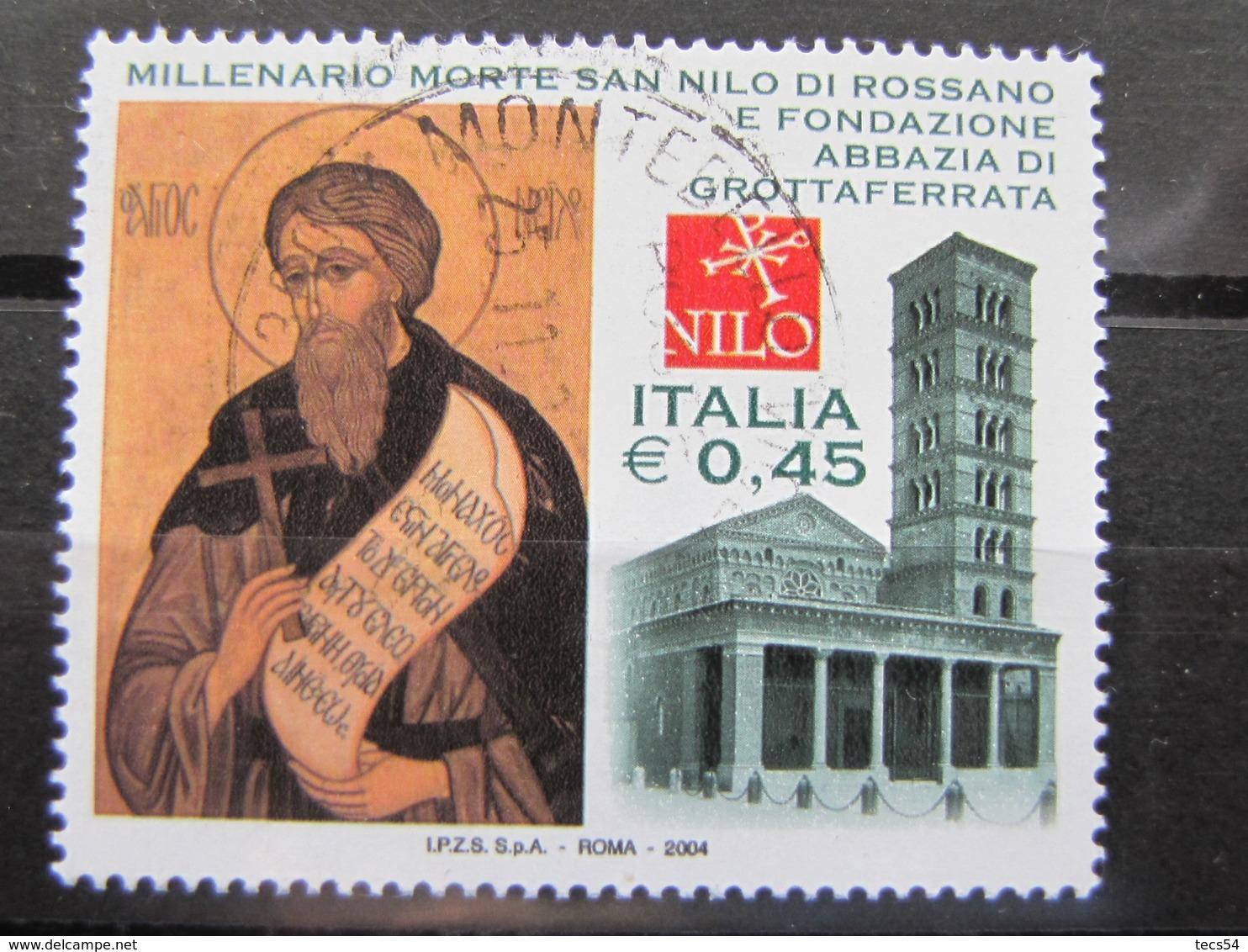 *ITALIA* USATI 2004 - ABBAZIA GROTTAFERRATA SAN NILO - SASSONE 2778 - LUSSO/FIOR DI STAMPA - 6. 1946-.. Repubblica