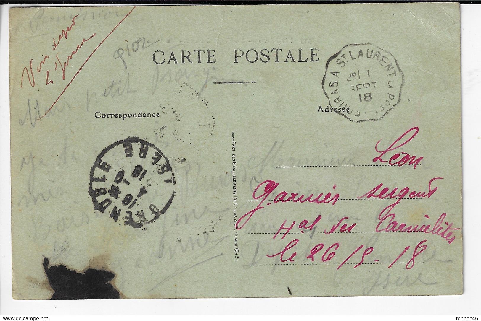 17 - FOURAS - La Plage à L'heure Du Bain - Animée - 1918  (Q102) - Fouras-les-Bains