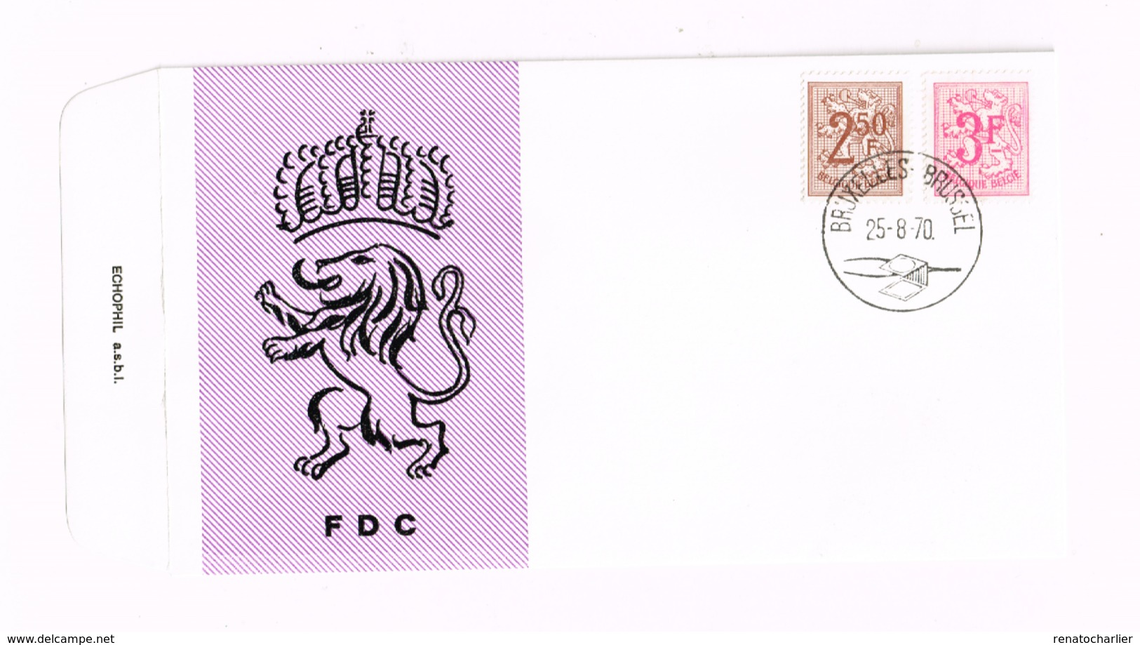 Lion Héraldique. Yvert 1544/5 - 1961-70