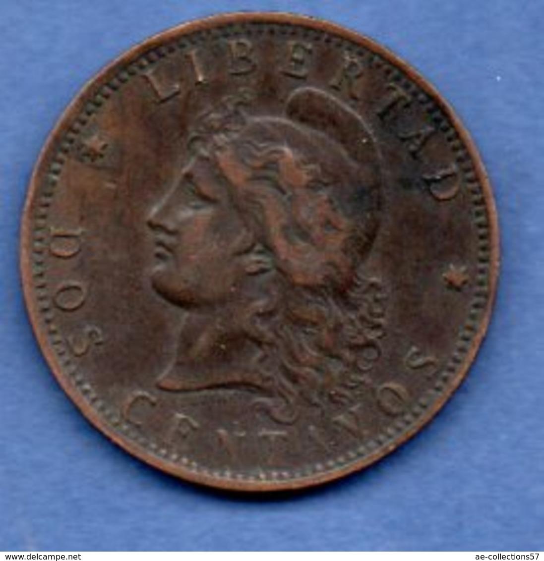 Argentine -  2 Centavos  - 1892  -  Km # 33  - état  TB+ - Argentine