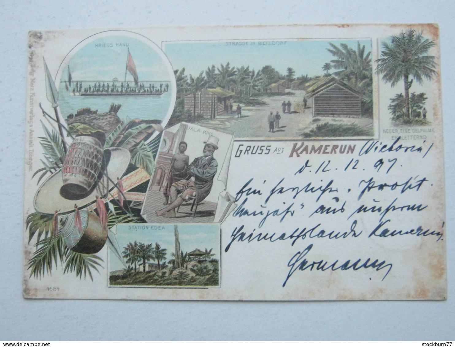 KAMERUN , Ansichtskarte Mit Stempel  Kamerun  1897 - Kolonie: Kamerun