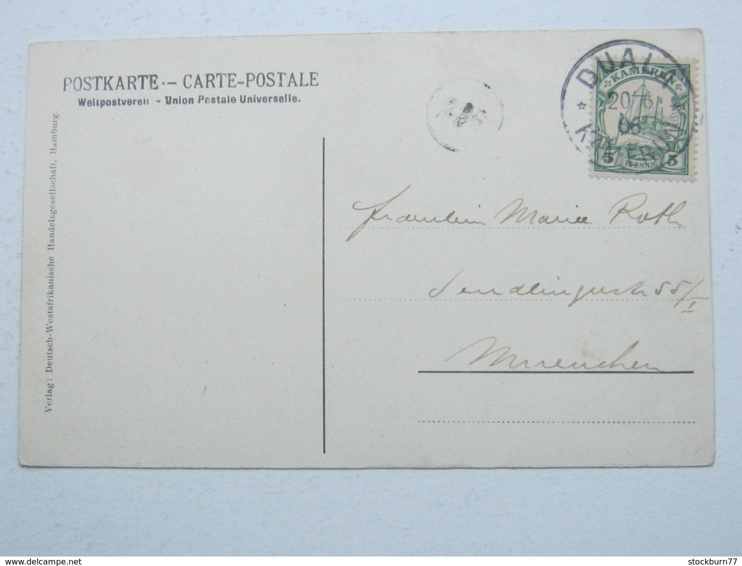 KAMERUN , Ansichtskarte Mit Stempel  DUALA 1906 - Kolonie: Kamerun