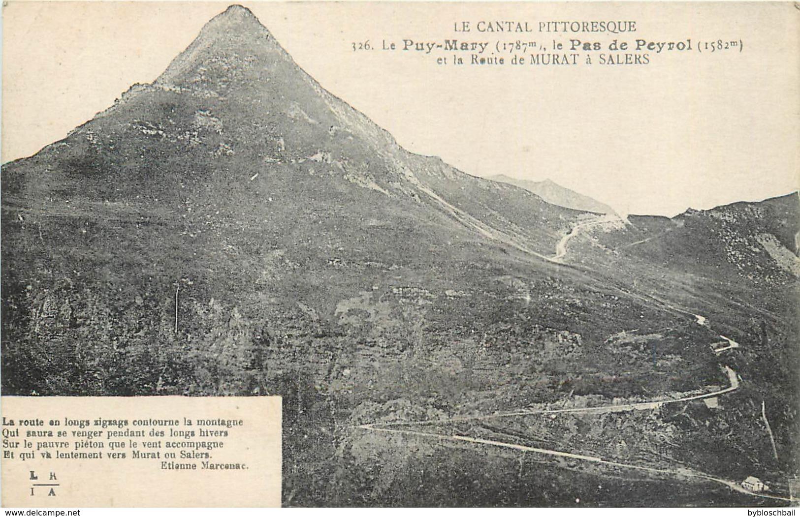 Lot 2 CPA 15 Le Cantal Pittoresque Puy Mary Col D'Eylac Route De Salers à Murat - Chasseur Et Son Chien Le Pas De Peyrol - Francia