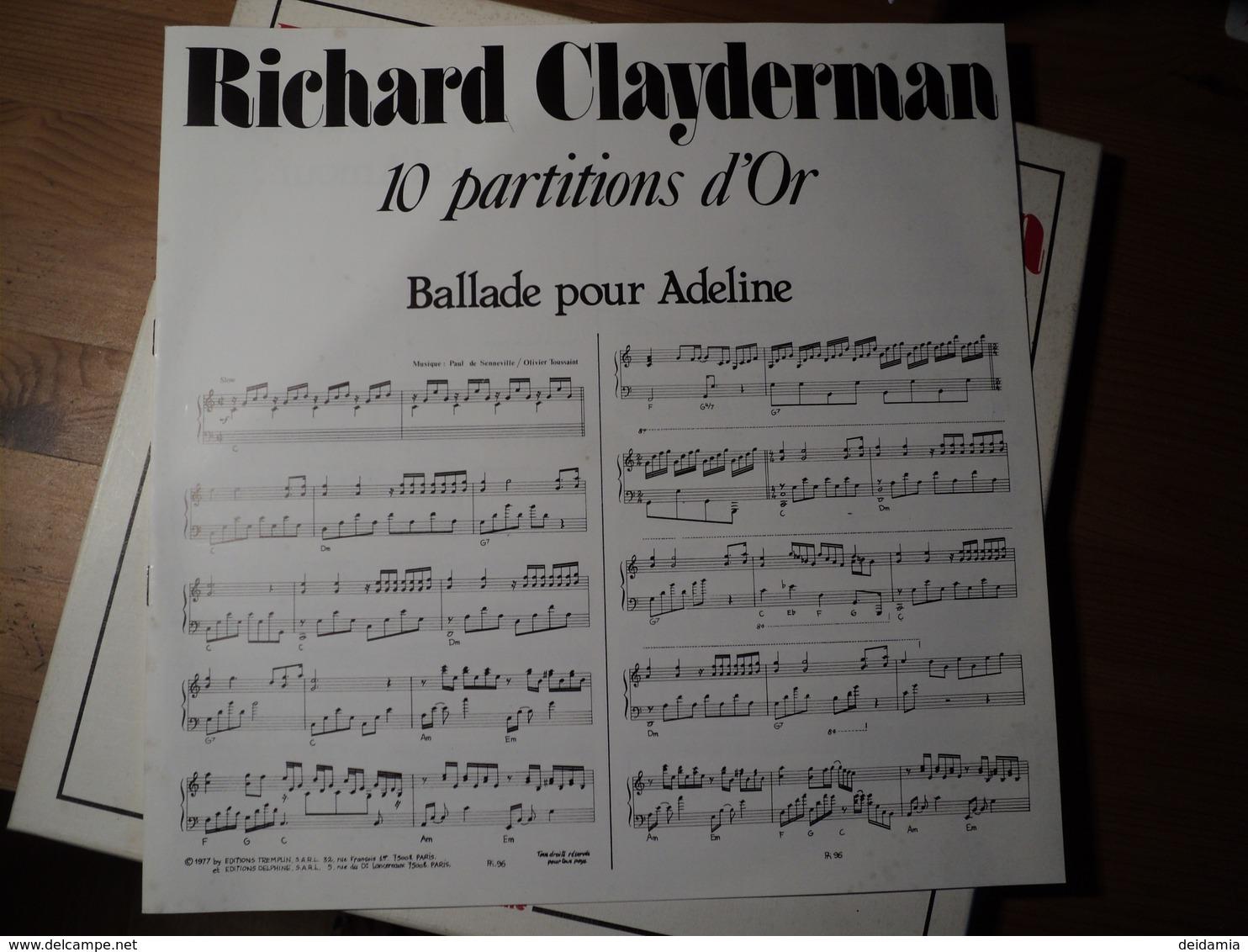 COFFRET TROIS 33 TOURS RICHARD CLAYDERMAN. 1980. DELPHINE 5 700603/4/5 DOLANNES MELODIE / YESTERDAY / LIEBERSTRAUM / DO - Instrumental