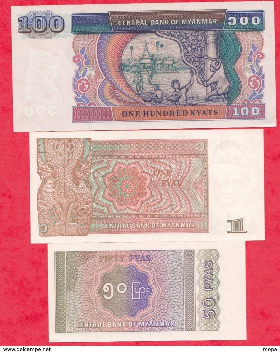 Myanmar 3 Billets ---UNC/NEUF - Myanmar