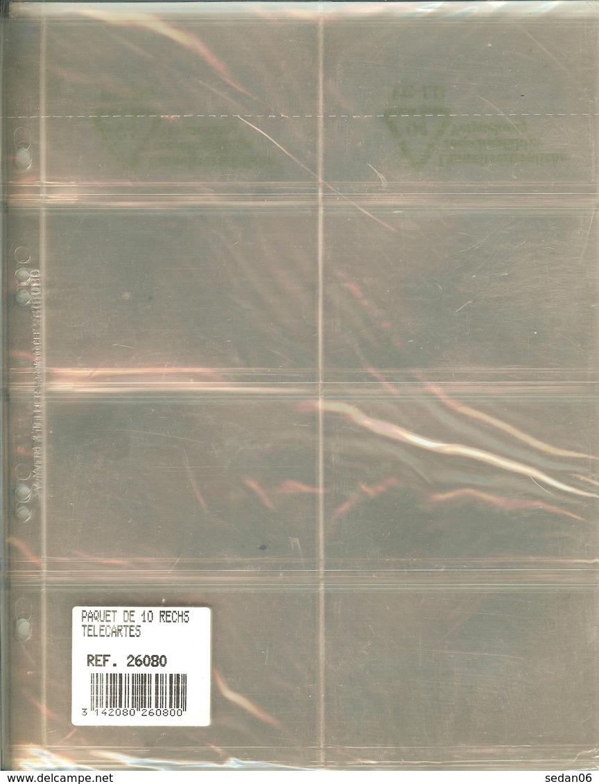 Yvert Et Tellier -  RECHARGES TELECARTES Pour RELIURE CARAVELLE/GALION (Plastique Rigide, REF. 26080) - Télécartes
