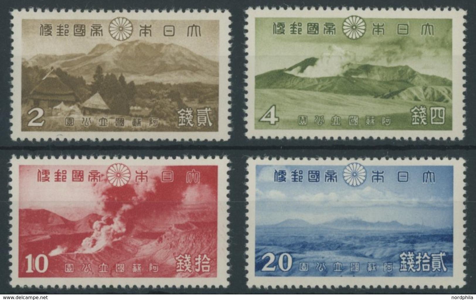 JAPAN 280-83 **, 1939, Aso-Kuju-Nationalpark, Postfrischer Prachtsatz - Japan