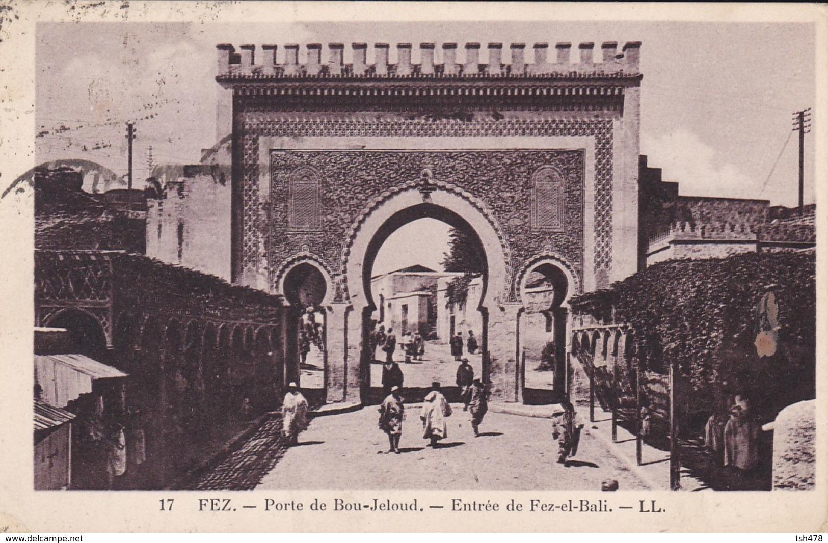 MAROC---FEZ--porte De Bou-jeloud--entrée De Fez-el-bali--voir 2 Scans - Fez (Fès)
