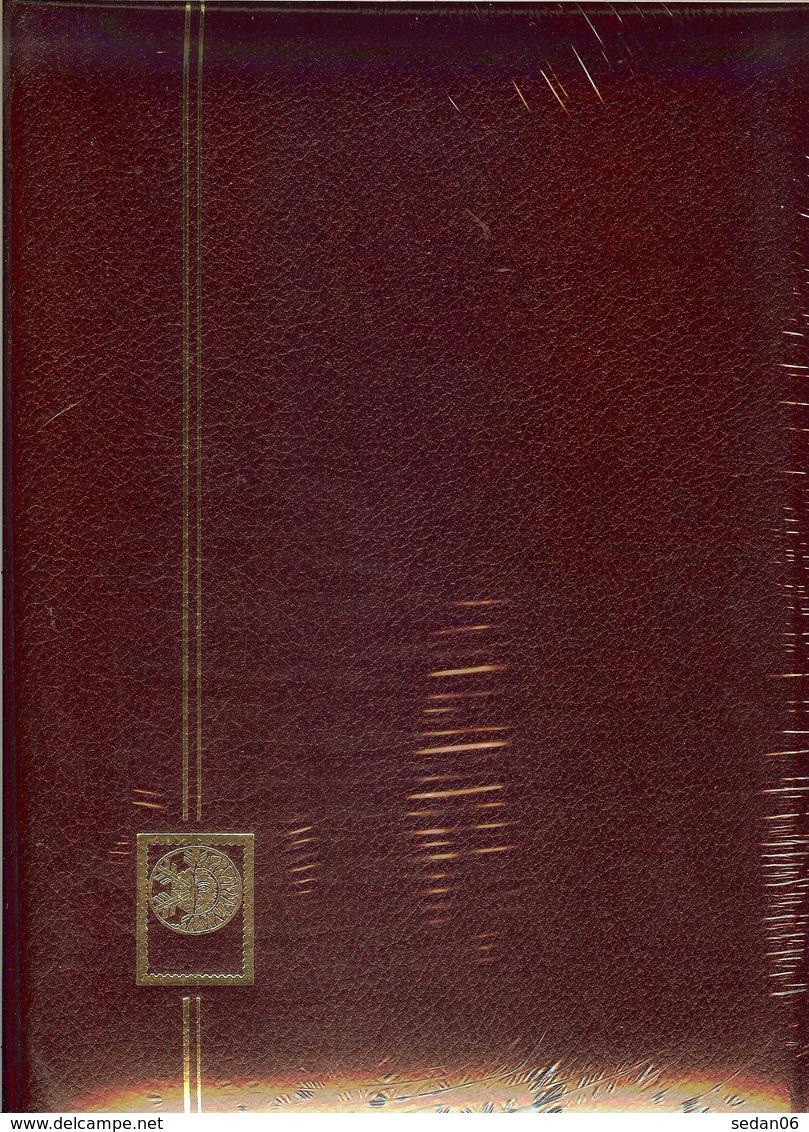 Yvert Et Tellier -  CLASSEUR PERFECTA CUIR 32 Pages Fond Noir (REF. 24122 - Grenat) - Albums à Bandes